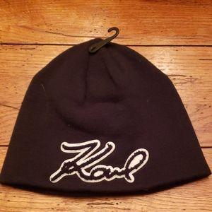 NWT - * Karl Lagerfeld Signature Beanie